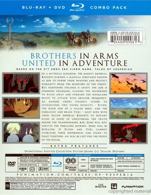 Tales Of Vesperia The First Strike Movie Blu Ray Dvd Combo