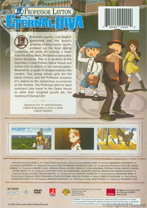 Professor Layton And The Eternal Diva English